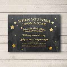 Wish Upon a Star Baby Shower Invitation, Star Baby shower Invite, Star Shower Invite, Personalized Printable by WhitetailDesigns on Etsy https://www.etsy.com/listing/226117789/wish-upon-a-star-baby-shower-invitation