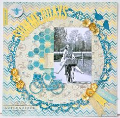 Summer Layout by Authentique Paper Design Team Member Loes de Groot