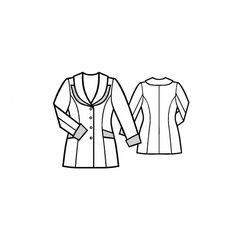 5072 Double-collar jacket > Lekala