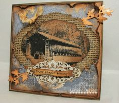 Stamps - Artistic Outpost Old Grist Mill Covered Bridges, Card Tags, Paper Cards, Happy Fall, Tim Holtz, Winter Christmas, Cardmaking, Vintage World Maps