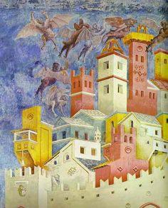 Giotto - La cacciata dei diavoli da Arezzo (dettaglio) - Chiesa Superiore di San…