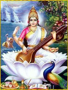 Vivi Devi Dasi: Yoga y Danza con Amor Arte Shiva, Shiva Art, Shiva Shakti, Ganesha Art, Saraswati Photo, Saraswati Goddess, Saraswati Mata, Saraswati Vandana, Saraswati Painting