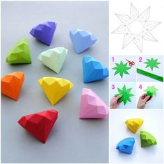 DIY 3D Paper Diamonds | iCreativeIdeas.com Follow Us on Facebook --> https://www.facebook.com/icreativeideas