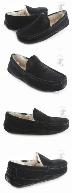 5bff4bcaffe Slippers 11505  Men Ugg Australia Ascot 5775 Black Suede100% Authentic  Brand New In Orig. Box -  BUY IT NOW ONLY   91.92 on eBay!