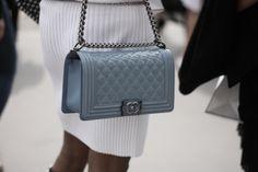 Love the Chanel boy bag in grey