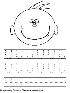 Curves Up Tracing Practice Line Tracing Worksheets, Alphabet Worksheets, Preschool Worksheets, Kids Activity Books, Book Activities, Prewriting Skills, Alphabet Board, Printing Practice, Writing Exercises