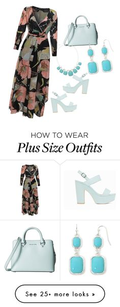 """Plus Diva"" by shawanda-lanette-elam-taylor on Polyvore featuring Nly Shoes, MICHAEL Michael Kors, Liz Claiborne and plussize"
