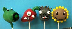 Plants vs Zombies cake pops
