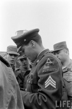 Elvis returning from the Army 1960