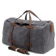 Waxed Canvas Duffle Bag / Weekend Bag / Duffel Bag Men / Men ...