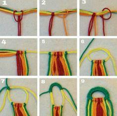 Detailed photo tutorial on how to make a straight beginning row with the friendship bracelets. Detailed photo tutorial on how to make a straight beginning row with the friendship bracelets. Bracelet Crafts, Macrame Bracelets, Gold Bracelets, Macrame Knots, Micro Macrame, Diamond Earrings, Macrame Jewelry, Ankle Bracelets, Crochet Bracelet