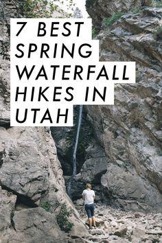 7 best spring waterfall hikes in Northern Utah! Camping And Hiking, Hiking Trails, Utah Camping, Camping Tips, Backpacking, Camping Survival, Bike Trails, Utah Vacation, Vacation Ideas