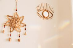 ☾☽ Lady Scorpio ☆ @LadyScorpio101 LadyScorpio101.com ✦ Bohemian Bedroom Decor ☆ All Seeing Eye & OM Wall Hanging, Perfect for Zen Space or Yoga / Meditation Room!