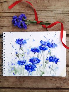 Watercolor garden. Part 6 - Centaurea on Behance