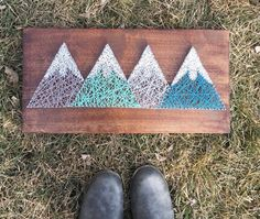 The mountains are calling and I must go, Mountain String Art, Wood Art, Rustic Home Decor, Travel Gifts, Galley Wall Decor, Gallery Wall
