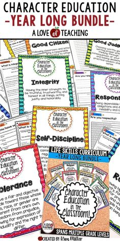 Teach your students important life skills with this Character Education in the Classroom Bundle which includes 10 classroom posters and 20 printables for students. There are 10 character traits included in the bundle. These character education posters are the perfect addition to any classroom! Colorful and useful, these posters are an excellent way to visually reinforce character education throughout the year, and this product spans multiple grade levels.