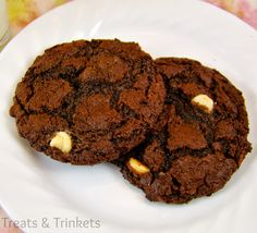 Treats & Trinkets: Flourless Double Chocolate Peanut Butter Cookies