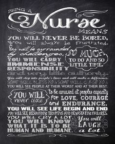 Personalized Chalkboard Nurse Rules 16 x 20 - Subway Sign Art Print - Wall Art - Gift for Nurse - Mother's Day Sale