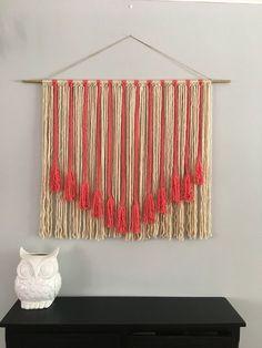 (notitle) Hand Made , (notitle) Weben, Macrame, Макраме, ткачество. Macrame Wall Hanging Patterns, Large Macrame Wall Hanging, Yarn Wall Hanging, Wall Hangings, Yarn Wall Art, Diy Wall Art, Wall Decor, Macrame Design, Macrame Art