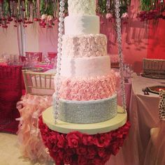 beautiful suspended cake