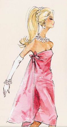 I remember making a page with every single barbie sketch of robert best's...now if only i could find it. I adore these sketches!! This one was my favorite!