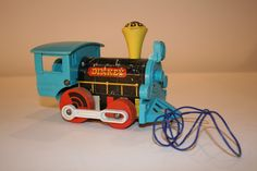 Vintage Fisher Price Dinkey Pull Train Toy