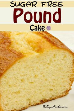 Make a great dessert cake that everyone can agree on. This is the best tasting recipe for How to Make Sugar Free Pound Cake. Diabetic Desserts, Diabetic Recipes, Low Carb Recipes, Cooking Recipes, Diabetic Foods, Easy Diabetic Meals, Diabetic Breakfast Recipes, Pre Diabetic, Diabetic Living