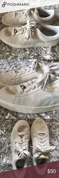 awesome Tendance Basket 2017 - NEW! PUMA BASKET SUEDE SNEAKERS W/ SPLATTER GOLD New Puma basket sneakers, suede...