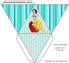 caixa piramide - Fazendo a Minha Festa