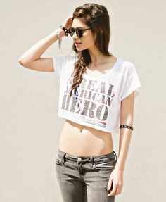 Rebel against the norm. Be a real American hero in this burnout tee from @Forever 21