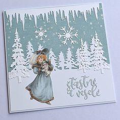 KvetaP / Vianočná pohľadnica Scrapbooks, Decoupage, Christmas Cards, Chic, Vintage, Art, Christmas E Cards, Shabby Chic, Art Background