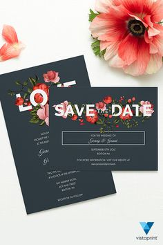 Make sure guests mark their calendars and get excited for your wedding with save the dates from Vistaprint. No matter how picky, Vistaprint has the save the date stationery that every couple will love.