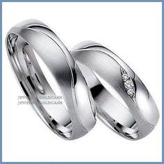 exclusivas argollas de oro blanco y plata matrimonio regalo