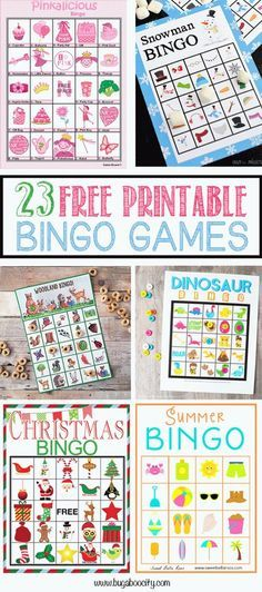 23 Free Printable Bingo Games by Kim.Bingo is, hands-down, one of our favorite activities! It is a great game to play on a cold [. Christmas Bingo, Christmas Games For Kids, Diy Christmas, Christmas Parties, Handmade Christmas, Christmas Decorations, Xmas, Dementia Activities, Senior Activities