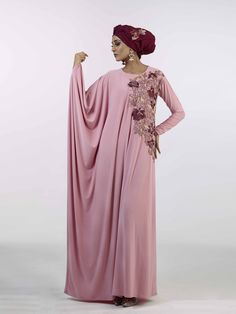 Grecian guipure Pink Abaya by Ruhee Collection   My Online Souk   www.myonlinesouk.co.za Modest Dresses, Bridesmaid Dresses, Wedding Dresses, Eid, Clothes, Collection, Design, Fashion, Moda