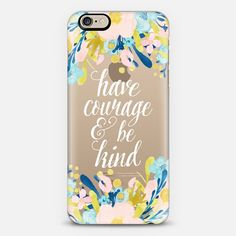 Have Courage and be Kind - Transparent - Classic Snap Case