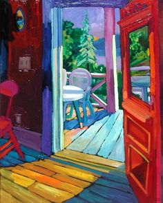"""View to the Lake - Afternoon"" - Artwork by Russ Vogt"