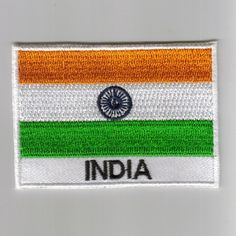 India Flag Embroidered Patch Country  Iron-On Emblem