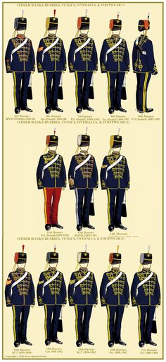 British Hussars in overalls
