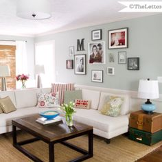 Great wall color and all accent colors, light fixture ... Over all look of this room