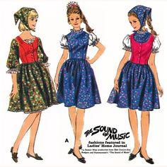 Hard to Find 1965 Sound Of Music Drindl by deliciouspatterns, $23.75