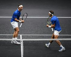 Roger #Federer and Rafael Nadal at the #Lavercup 2017 #Fedalutd