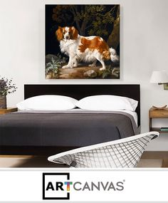 Ready-to-hang King Charles Spaniel Canvas Art Print for Sale canvas art print for sale. Art Prints For Sale, Albrecht Durer, King Charles Spaniel, Canvas Art Prints, Edgar Degas, Dancers, Furniture, Skull, Home Decor