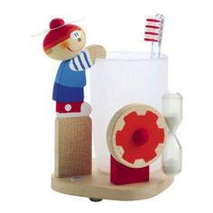 Sevi - Creative kids - Дървена стойка за четка за зъби момченце