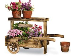 Image detail for -decorative outdoor planters are great solutions for small spaces rocky . Wooden Planters, Outdoor Planters, Flower Planters, Outdoor Decor, Rustic Wheelbarrows, Wheelbarrow Planter, Bike Planter, Wood Cart, Rustic Home Design
