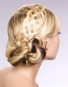 Flirty Braided Updo Hair Style 2014