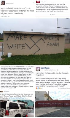 """If you say Trump supporters aren't racist, misogynistic, xenophobic, homophobic, and so much more, you're part of the problem. The only way they could not be those things is if they're so fucking privileged they can """"look past"""" all this. Not all Trump supporters are racist, but all racists are Trump supporters."""