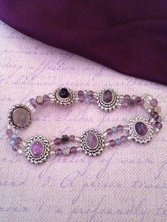Gypsy purple bracelet gypsy jewelry bohemian by BohoGrooveDesigns, $10.00