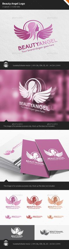Beauty Angel Woman Wings Logo Template Vector EPS, AI. Download here: http://graphicriver.net/item/beauty-angel-woman-wings-logo/14202512?ref=ksioks