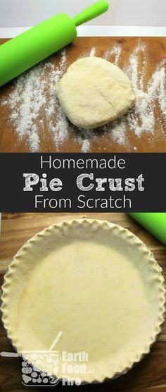 A basic baking skill everyone should have, making homemade pie crust is easy! Follow this super simple recipe to make the best desserts on the block. Butter and flaky this recipe is easily made ahead and stored for future use. #homemade #piecrust #fromscr